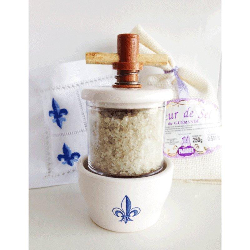 Sea Salt Grinder - Fleur de Lys<br>