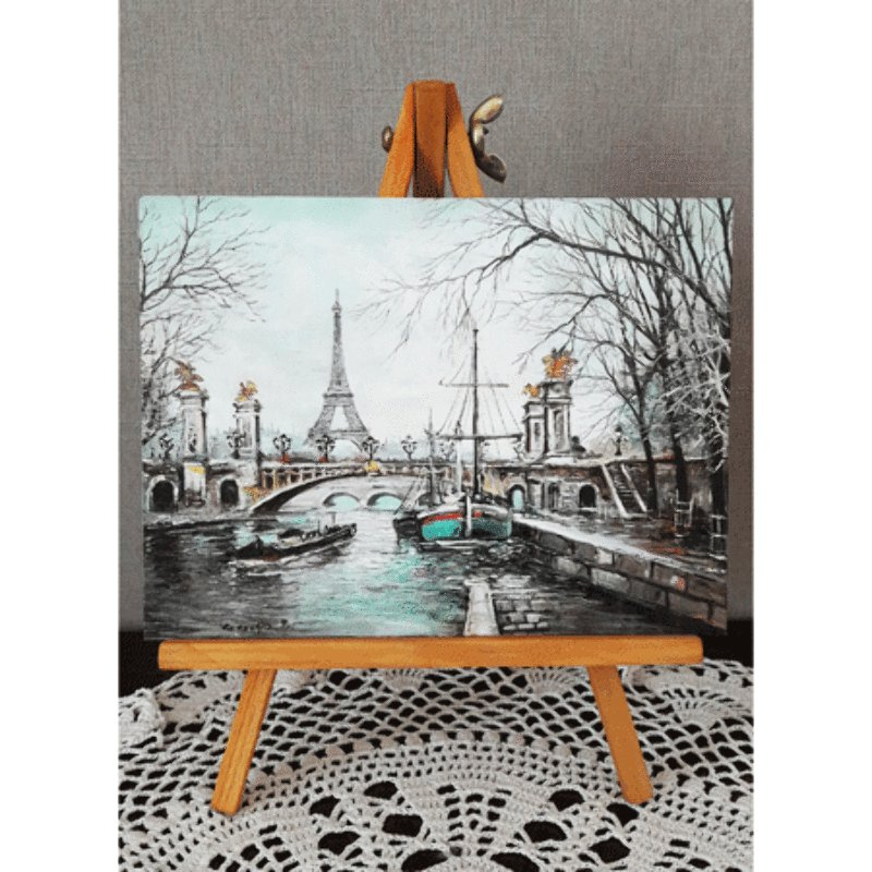 Paris Mini Easel - Eiffel Tower Pont Alexandre III
