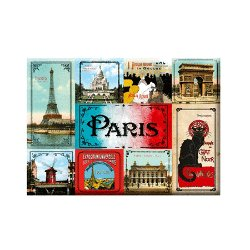 Set of 9 magnets - Vintage Paris<br>