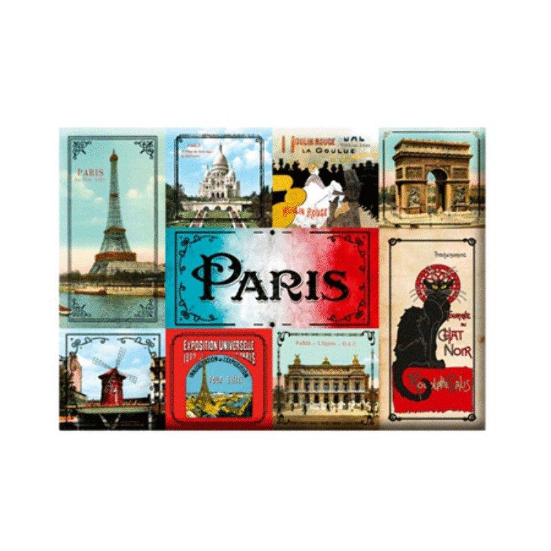 Set of 9 magnets - Vintage Paris<br>