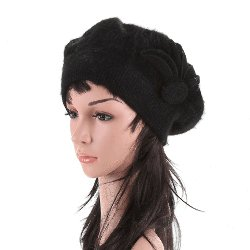 Stylish French Beret - Black<br>