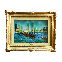 Magnet 3D Painting - Monet, Red Boats<br>