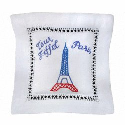 Embroidered Lavender Sachet - Eiffel Tower