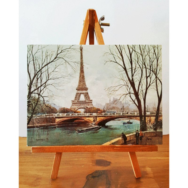 Paris Mini Easel - Eiffel Tower