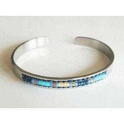 Navajo Cuff Bracelet - Blue