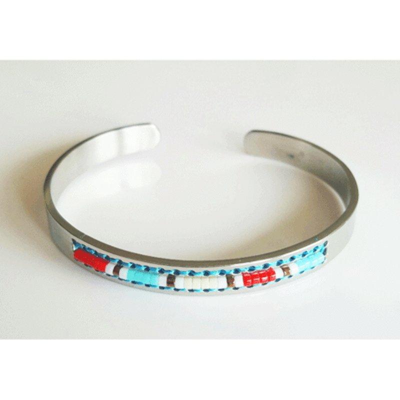 Navajo Cuff Bracelet - Red