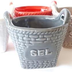 Sea Salt Container - Grey<br>
