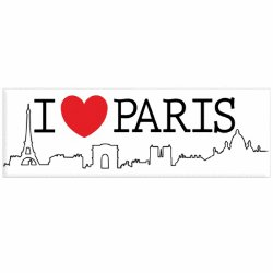 Decorative Magnet - I Love Paris<br>