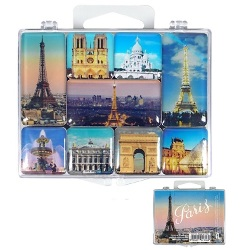 Set of 9 magnets - Paris Monuments<br>