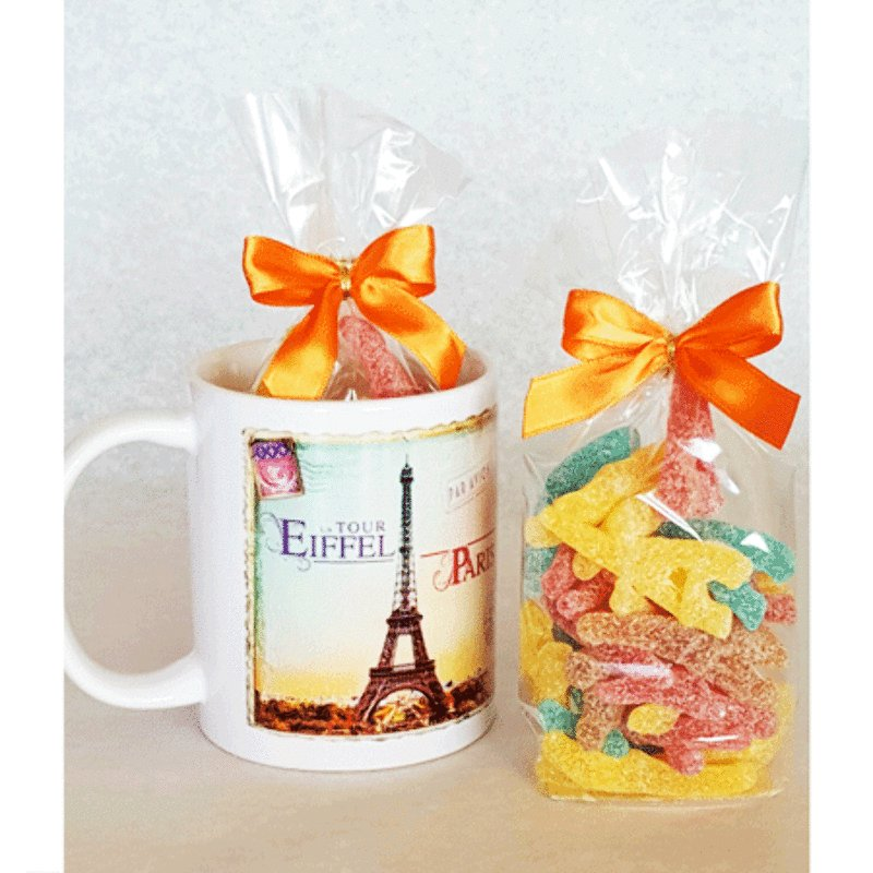 Paris Mug Filled with Eiffel Tower Shaped Candy<br>