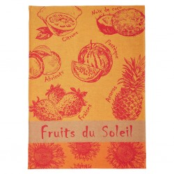 French Dish Towel - Fruits...