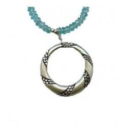 Bora-Bora -Silver pendant & apatite necklace