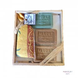 Provence Lavender & Soap Wood Gift Box