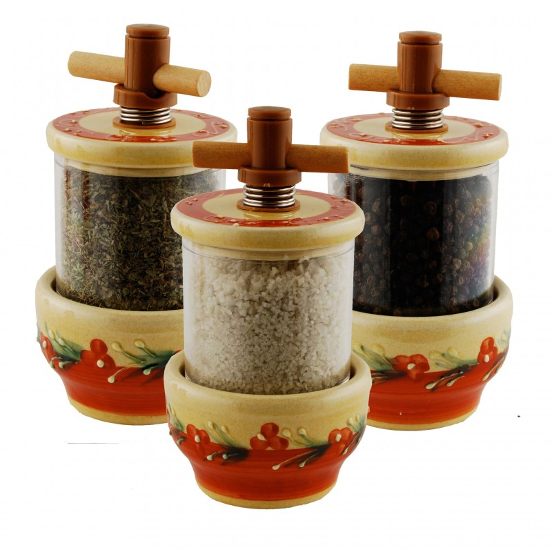Terracotta Ceramic Grinder - Herbs, Pepper or Salt
