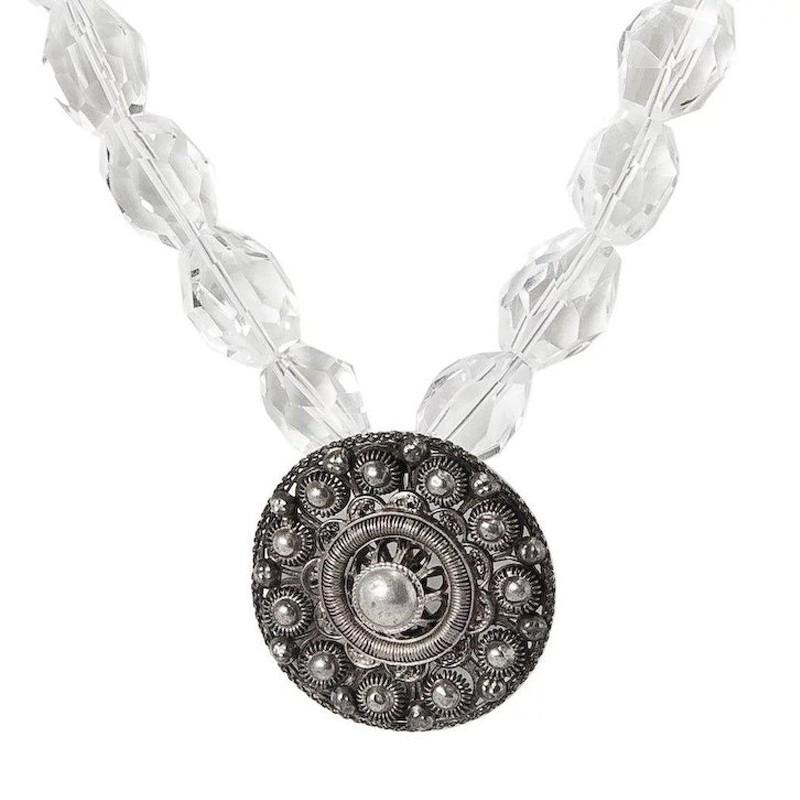 UTRECHT- Filigree Dutch Brooch & Rock Crystal