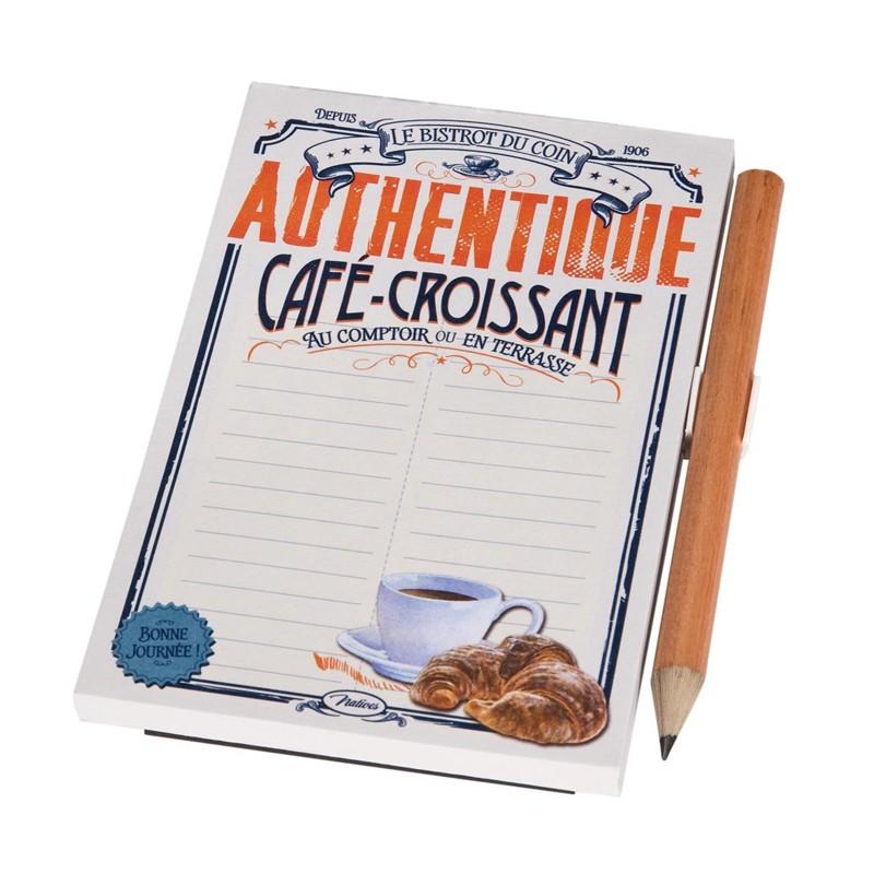 Magnetic Memo Notepad - Café – Croissant