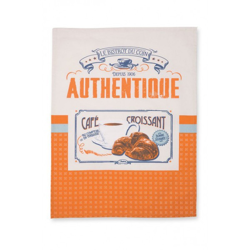 French Dish Towel Café Croissant