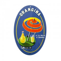 French Enamel Oval Sign Orangina