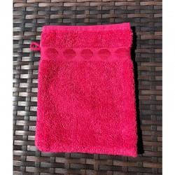 French Pocket Washcloth - Bright Pink Dots