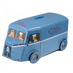 Butter Cookies in Collectible Vintage Blue Citroen Van - La Trinitaine