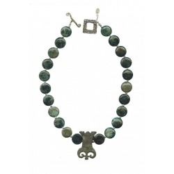 LARAGNE- Bronze Fibula & Apatite Necklace