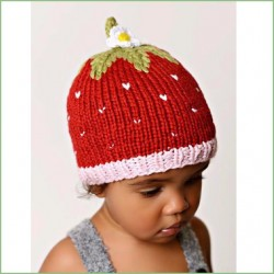 Bamboo Strawberry Knit Hat