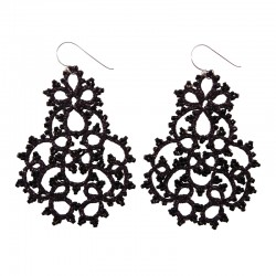 Lace Large Black Chandelier...