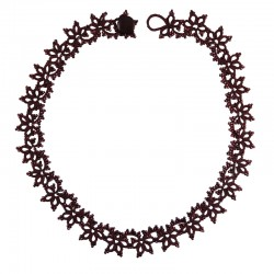 Lace Plum Necklace by French Designer Lorina