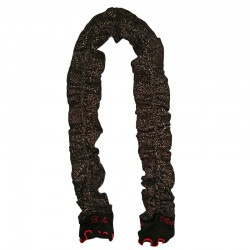 Scarf – Black Red Trim by French designer Berthe Aux Grands Pieds
