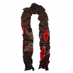 Scarf – Chocolate Stripe by French designer Berthe Aux Grands Pieds