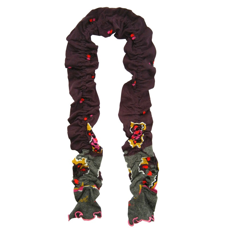 Scarf – Plum Gray by French designer Berthe Aux Grands Pieds