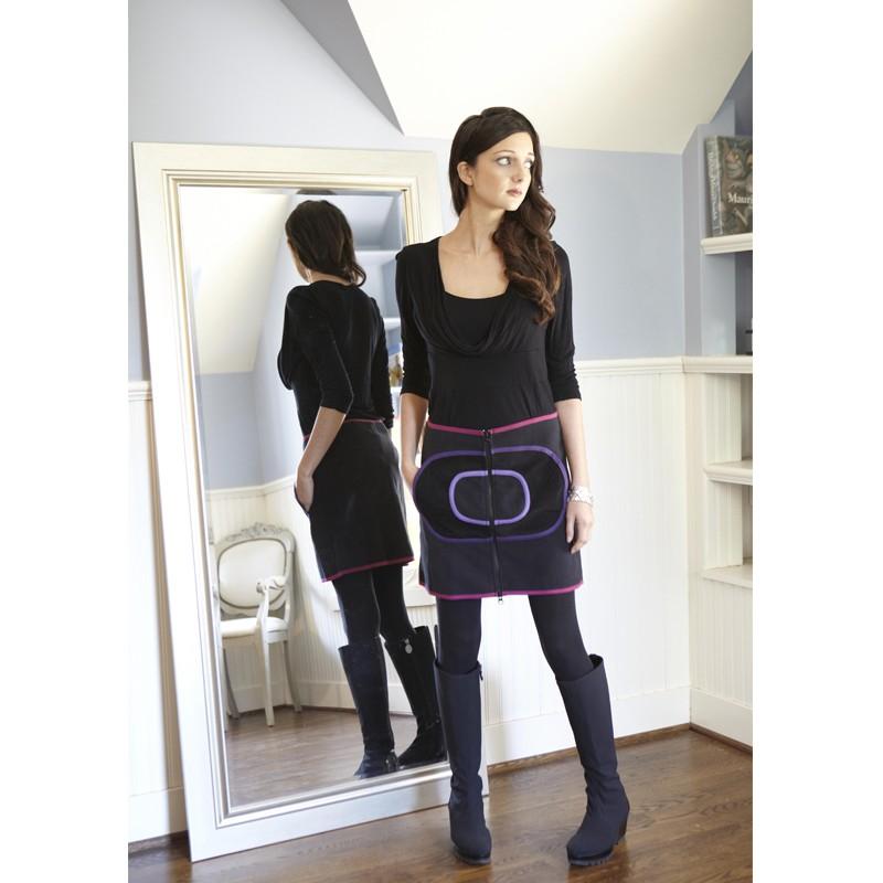 Geo Fleece Zip Up Skirt by French Designer TurboWear