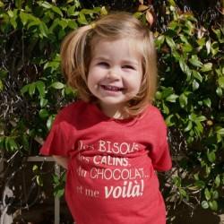 Kids Organic Pink T-shirt - French Design