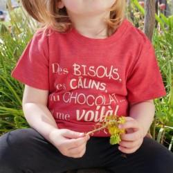 Kids Organic Pink T-shirt -...