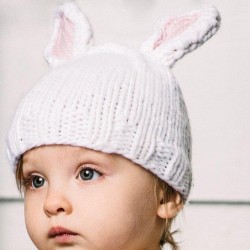 Bamboo Bunny Baby Knit Hat...
