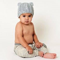 Bamboo Bear Baby Knit Hat