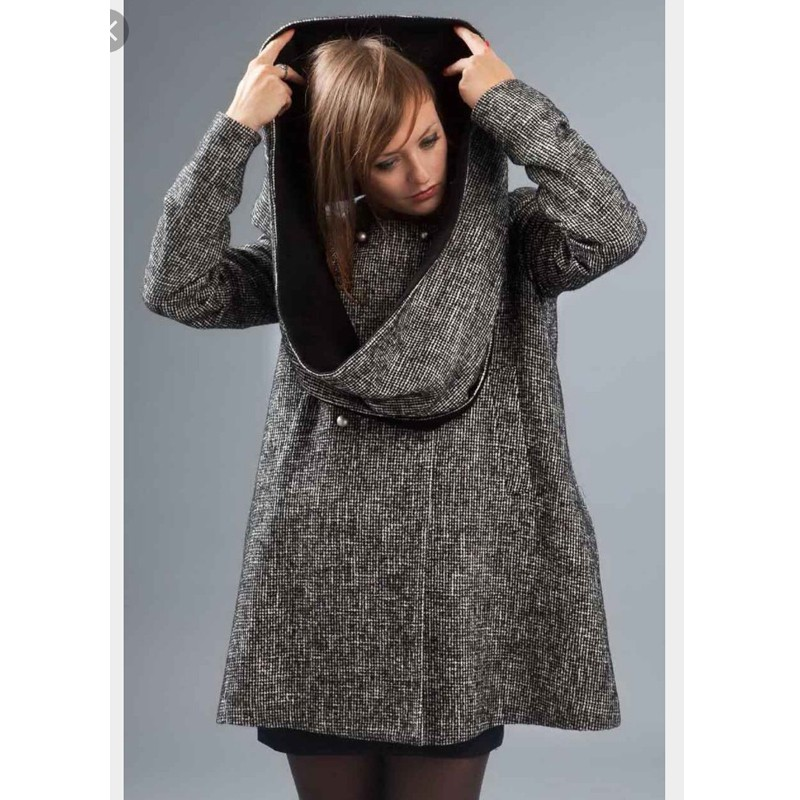 Coat Leonie - Swing Coat by French Designer Madeva