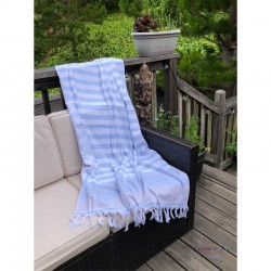 Fouta Towel - Blue/Grey...