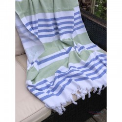 Fouta Towel - Blue/Green...