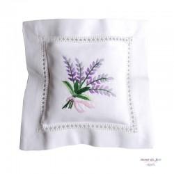 Embroidered Lavender Sachet - Lavender