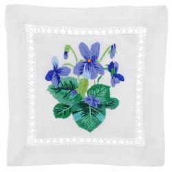 Embroidered Lavender Sachet - Violet