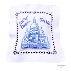 Embroidered Lavender Sachet - Sacre Coeur