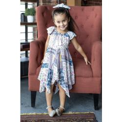 Emma Flutter Sleeve Dress