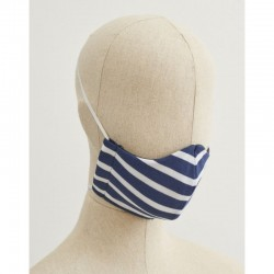 Stylish Saint James Face Mask - Navy/White