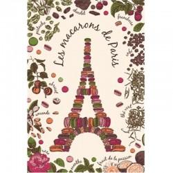 French Image Dish Towel - Macarons de Paris