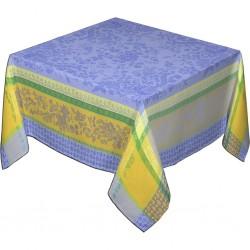 Provence Jacquard Tablecloth Cotignac - Square Blue