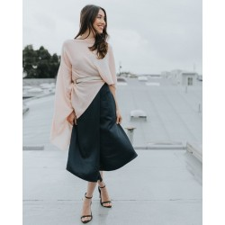 Cashmere Poncho Kate - Rose