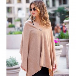 Cashmere Poncho Marion - Camel