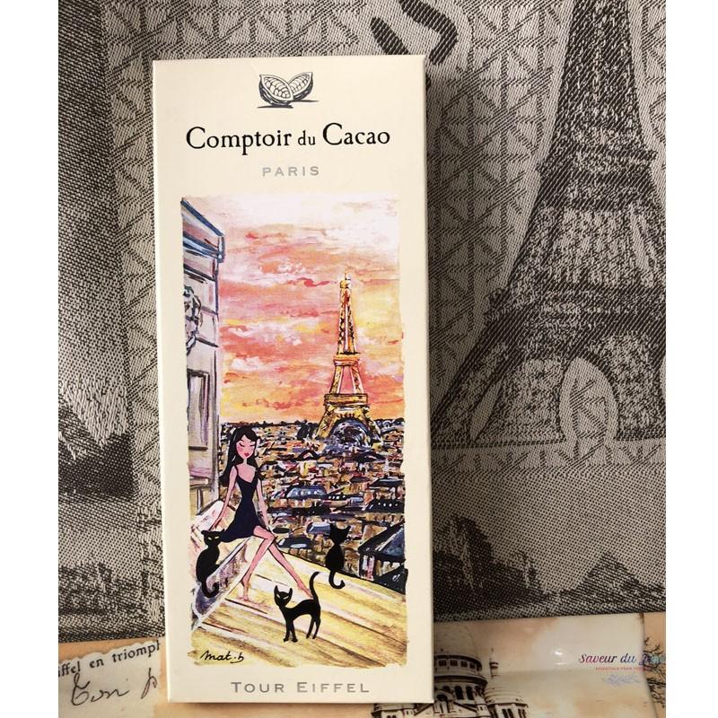 """Dark Chocolate 72 % """"Tour Eiffel Toits de Paris"""" - Comptoir du Cacao"""
