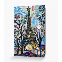 Eiffel Tower Art Print Card